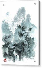 Temple Bridge Acrylic Print