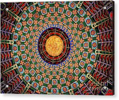 Temple Ceiling Acrylic Print by Lisa L Silva