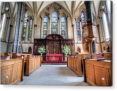 Acrylic Print featuring the photograph Temple Church by Ross Henton
