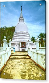 temple complex at the tropical island Sri Lanka Acrylic Print by Gina Koch