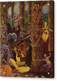 Temple Dance Acrylic Print by Alika Kumar