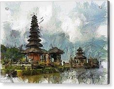 Temple Acrylic Print by Georgi Dimitrov