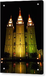Temple In Salt Lake City Acrylic Print by Jeff Swan