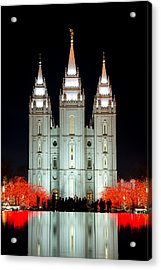 Temple Lights Acrylic Print