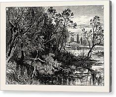 Temple Lock, Marlow, Uk, Great Britain, United Kingdom Acrylic Print by English School