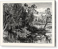 Temple Lock, Near Marlow, Uk, Britain, British Acrylic Print by English School