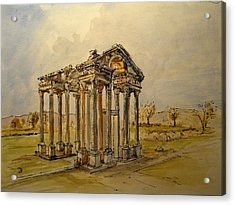 Temple Of Aphrodite Acrylic Print by Juan  Bosco