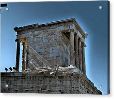 Temple Of Athena Nike Acrylic Print by James R Martin