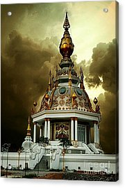 Temple Of Clouds  Acrylic Print