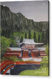 Acrylic Print featuring the painting Temple Of Equality by Suzette Kallen