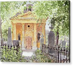 Temple Of Harmony, Vesprem, Hungary, 1996 Wc On Paper Acrylic Print by Lucy Willis