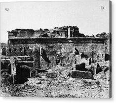 Temple Of Hathor, 1850 Acrylic Print