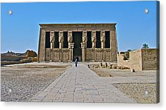 Temple Of Hathor Near Dendera-egypt Acrylic Print