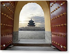 Temple Of Heaven Acrylic Print by Zyxeos30