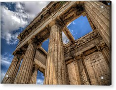 Acrylic Print featuring the photograph Temple Of Hephaestus by Micah Goff