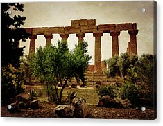 Temple Of Juno Lacinia In Agrigento Acrylic Print by RicardMN Photography
