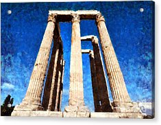 Temple Of Olympian Zeus  Acrylic Print by George Atsametakis