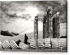 Temple Of Olympian Zeus Acrylic Print by Manolis Tsantakis