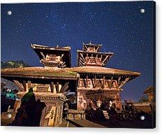 Temple Of Panauti Acrylic Print by Babak Tafreshi/science Photo Library