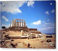 Temple Of Poseidon Vignette Acrylic Print
