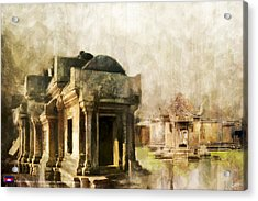 Temple Of Preah Vihear Acrylic Print by Catf