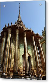 Temple Of The Emerald Buddha - Grand Palace In Bangkok Thailand - 01138 Acrylic Print by DC Photographer