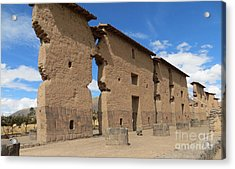 Temple Of Wiracocha Acrylic Print