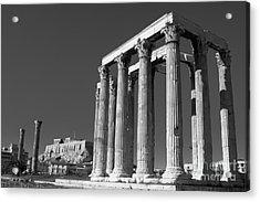 Temple Of Zeus Acrylic Print by Gabriela Insuratelu