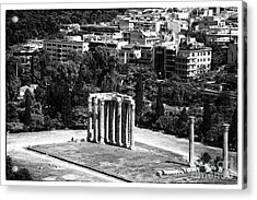 Temple Of Zeus II Acrylic Print by John Rizzuto