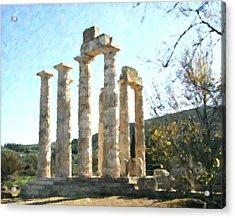 Temple Of Zeus Nemea Acrylic Print by Dan Chavez