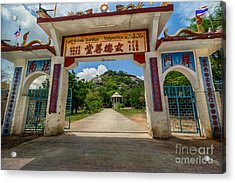 Temple On The Hill Acrylic Print