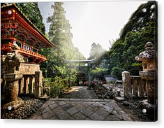 Temple Pathway Acrylic Print