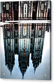 Acrylic Print featuring the photograph Temple Reflection by Jim Hill