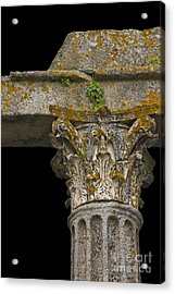Temple Ruin Fragment Acrylic Print by Heiko Koehrer-Wagner