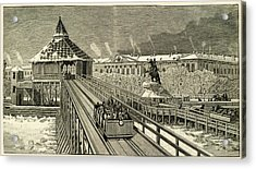 Temporary Railway Constructed Acrylic Print by Mary Evans Picture Library