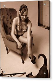 Temptation Acrylic Print by David Trotter