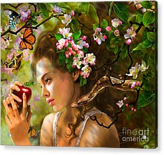 Temptation Of Eve Acrylic Print by Drazenka Kimpel