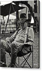 Cowboy And The Ten Gallon Hat Acrylic Print