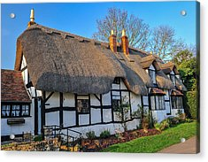 Ten Penny Cottage Welford On Avon Acrylic Print by David Ross