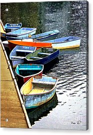Ten Rockport Dinghies Acrylic Print