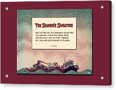 Ten Seamen's Sweaters Acrylic Print by Brian D Meredith