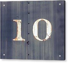 ten Acrylic Print