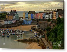 Tenby Harbour In The Morning Acrylic Print