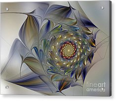 Tender Flowers Dream-fractal Art Acrylic Print