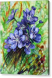 Tenderness Of Spring Acrylic Print by Zaira Dzhaubaeva