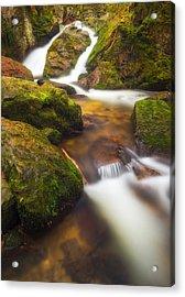 Acrylic Print featuring the photograph Tendon's Waterfall by Maciej Markiewicz