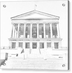Tennessee Capitol Building Sketch Acrylic Print by Dan Sproul