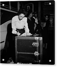 Tennessee Coach Company Baggage Agent Knoxville 1943 Acrylic Print by Mountain Dreams