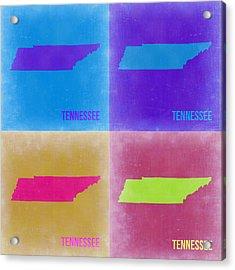 Tennessee Pop Art Map 2 Acrylic Print
