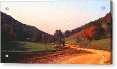Tennessee Road Acrylic Print by Spyder Webb